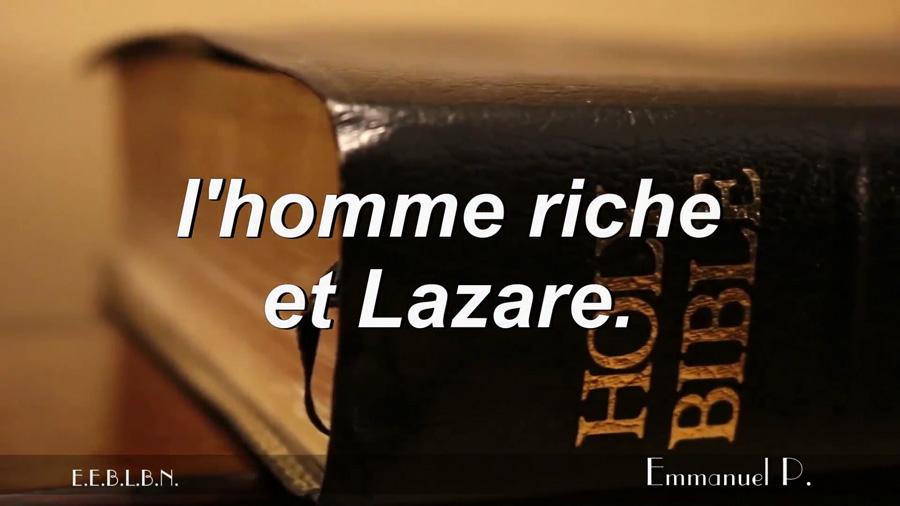 L'homme riche et Lazare.