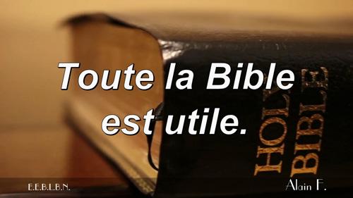 Toute la Bible est utile.